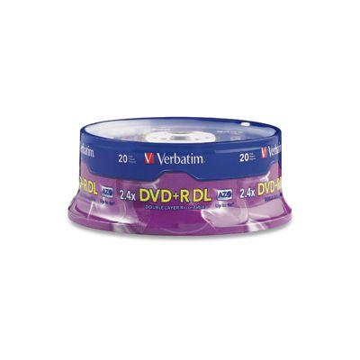 DISCO DVD-R VERBATIM 95310 - DVD+R DL 20 DISCOS 4X 240 MIN