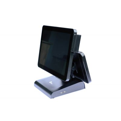 "TERMINAL POS AIO QIAN QPAW21801 CEL 4G 32G W10P 15""+12"" LEC BANDA, USB"