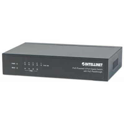 SWITCH 5 PUERTOS RJ45 GIGABIT POE METALICO INTELLINET 561082