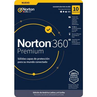 NORTON 360 PREMIUM 10 DV 1YR (TMNR-035)