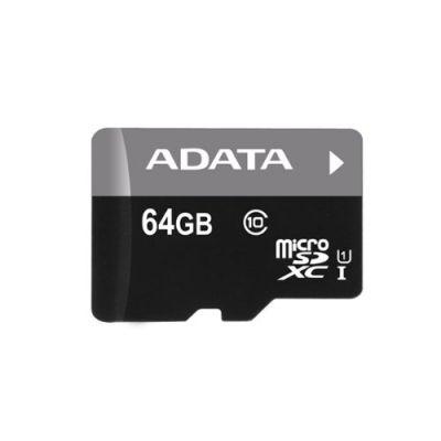MEMORIA MICRO SDHC ADATA 64GB UHS-I C/ADAPTADOR CL10 (AUSDX64GUICL10-R