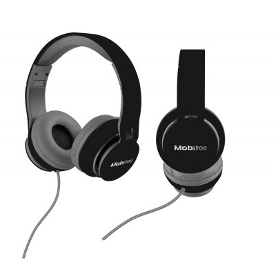 AUDIFONOS ACTECK ON-EAR CON MICROFONO URBAN KAOS NEGRO MB-919074