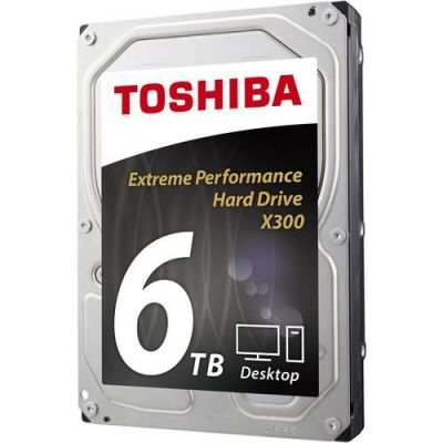 "DISCO DURO INTERNO TOSHIBA X300 XTME PERFORMANCE 6TB 3.5"" 7200RPM CAJA"