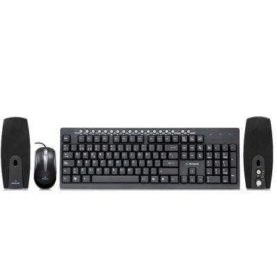 KIT ACTECK WKTM-004 TECLADO MULTIMEDIA / MOUSE / BOCINAS USB