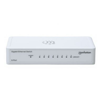SWITCH GB 8 PTOS MANHATTAN ETHERNET BLANCO 560702