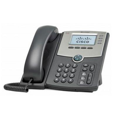 TELEFONO IP CISCO 4 LINEAS SPA514G CON SWITCH 2 PUERTOS PoP Y LCD
