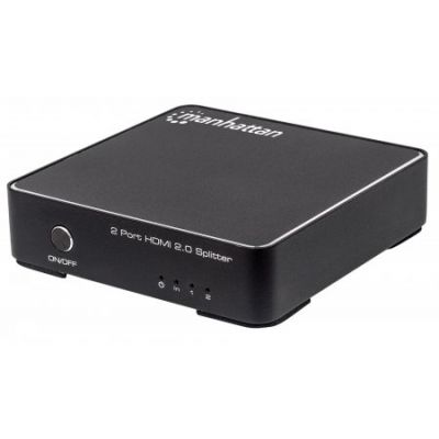 VIDEO SPLITTER MANHATTAN HDMI UHDTV 4K 60HZ, 1IN : 2OUT/AC 207591
