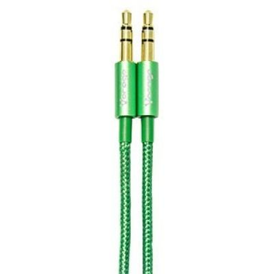 CABLE DE AUDIO VORAGO CAB-108 3.5 MM redondo METALICO VERDE BLISTER