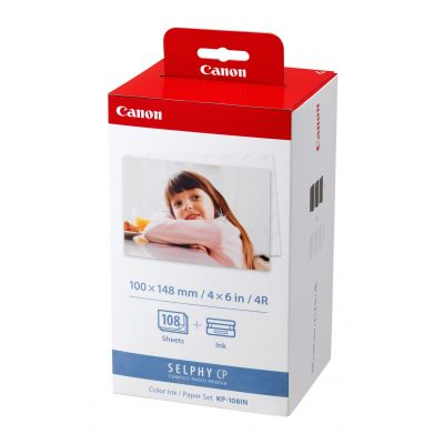 PAPEL TERMICO CANON 4X 108 HOJAS P/SELPHY CP800 CP900 (3115B001AA)