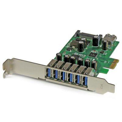 STARTECH TARJETA PCI EXP. 7 PTOS USB3.0 PERFIL BAJO COMPLETO PEXUSB3S7