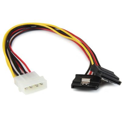 Cable 30cm Corriente  LP4 Molex a Doble SATA STARTECH PYO2LP4LSATA
