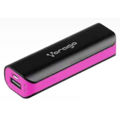 POWER BANK VORAGO PB-150 2200 mAh NEGRO/ROSA BOLSA