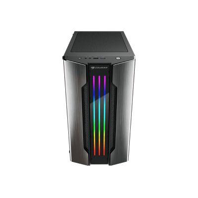 GABINETE GAMER COUGAR GEMINI M IRON GRIS RGB MATX CRISTAL 385TMB0.0001