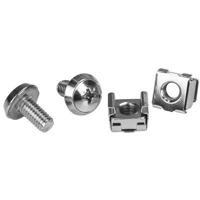 PAQUETE 100 TORNILLOS C/TUERCAS CAGE NUTS M6  STARTECH CABSCREWM62