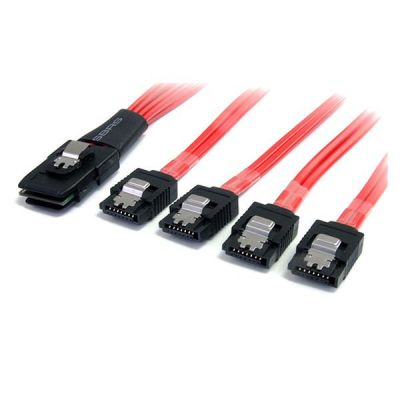 Cable 50cm MiniSAS SFF8087 a 4x SATA Cierre Latch STARTECH SAS8087S450