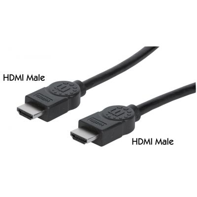 CABLE VIDEO HDMI MANHATTAN 1.4 M-M 3.0M+ETHERNET 323222
