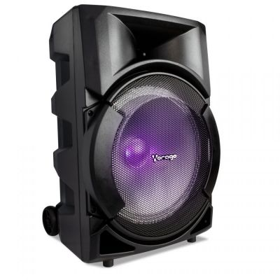 "BOCINA KARAOKE VORAGO KSP-301 8"" RECARGABLE BT/USB/AUX/SD 1MICROFONO"