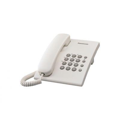 TELÉFONO ANALÓGICO PANASONIC KX-TS500MEW ESCRITORIO/PARED COLOR BLANCO