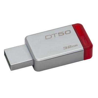MEMORIA FLASH KINGSTON 32 GB USB 3.1 PLATA / ROJO (DT50/32GB)