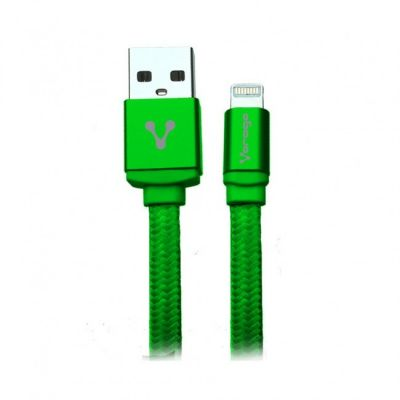 CABLE VORAGO CAB-119 VERDE USB-APPLE LIGHTNING 1 METRO VERDE BOLSA