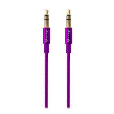 CABLE DE AUDIO VORAGO CAB-108 3.5 MM redondo METALICO ROSA BLISTER