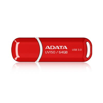 MEMORIA FLASH ADATA UV150 64GB USB 3.0 ROJA (AUV150-64G-RRD)