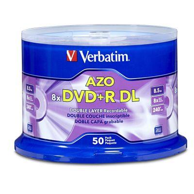 PAQUETE 50 DISCOS DOBLE CAPA VERBATIM DVDR 8.5GB 8X SPINDLE VB97000