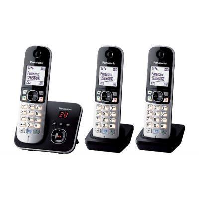TELEFONO INALAMBRICO PANASONIC KX-TG6823EB ESCRITORIO COLOR NEGRO
