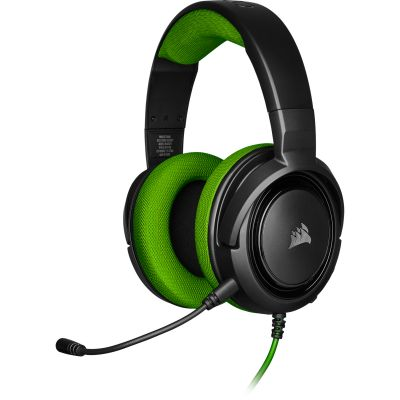 DIADEMA GAMING CORSAIR HS35 STEREO GREEN 3.5 MM CA-9011197-NA