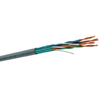 CABLE FTP, CAT. 5E, 4 PARES 24 AWG, CM AZUL, BOBINA 305 MTS(664445-15)