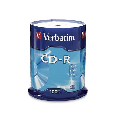 DISCO COMPACTO VERBATIM -R 52X 80MIN 700MB TORRE C/100 94554