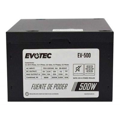 FUENTE DE PODER EVOTEC EV-500 NEGRO 500 W