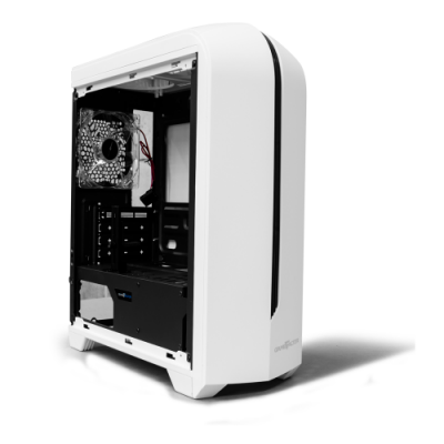 GABINETE GAMER GAME FACTOR CSG500 MATX WHITE, USB 3.0 VENT 120MM