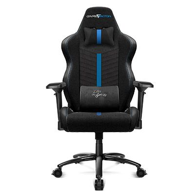 SILLA GAME FACTOR CGC601 XL, TELA, RECLINABLE, NEGRO/AZUL