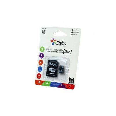 MEMORIA MICRO SD STYLOS 16 GB (STMS161B)