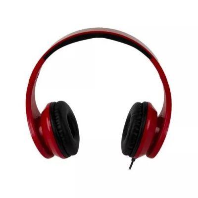 DIADEMA EASY LINE ON-EAR CON MICROFONO 3.5MM ROJO/NEGRO EL-995197