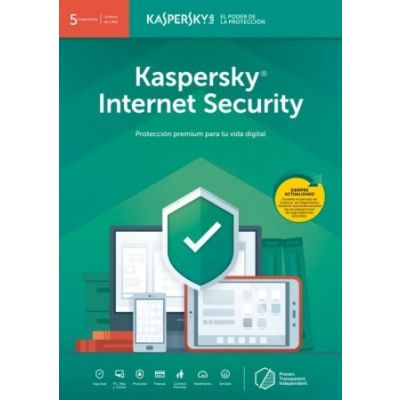 ANTIVIRUS KASPERSKY INTERNET SECURITY MULTIDEVI 5 USR 1 AÑO TMKS-189