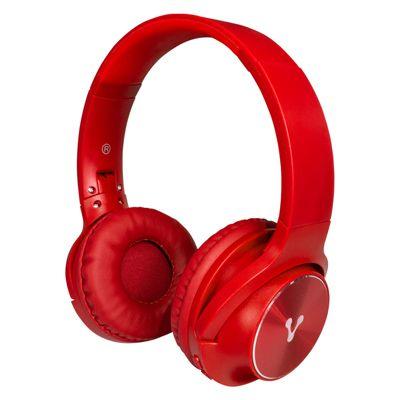 DIADEMA BLUETOOTH VORAGO HPB-200 FM/MSD PLEGABLE ROJO